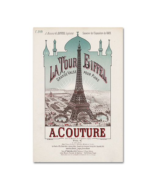 "Trademark Global Vintage Apple Collection 'Eiffel Exposition' Canvas Art - 19"" x 12"" x 2"""