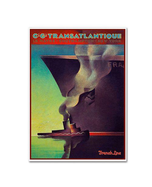 "Trademark Global Vintage Lavoie 'Travel Ship 134' Canvas Art - 47"" x 35"" x 2"""