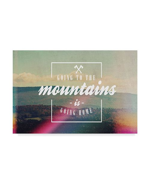 """Trademark Global Vintage Skies 'Going To The Mountains' Canvas Art - 32"""" x 22"""" x 2"""""""