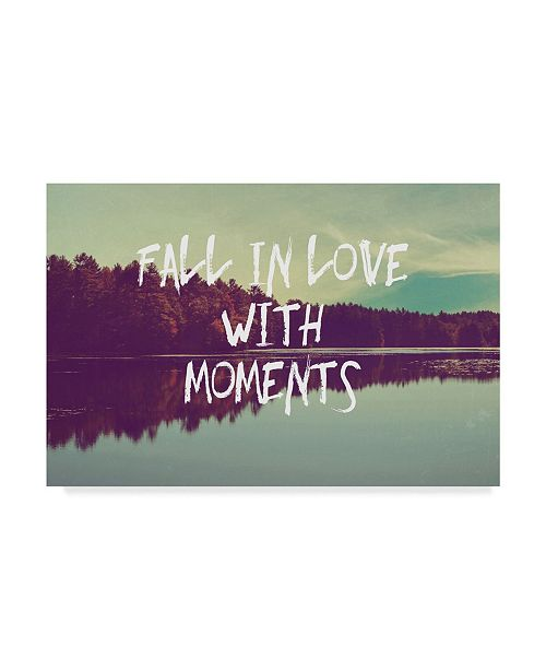 "Trademark Global Vintage Skies 'Fall in Love with Moments' Canvas Art - 32"" x 22"" x 2"""