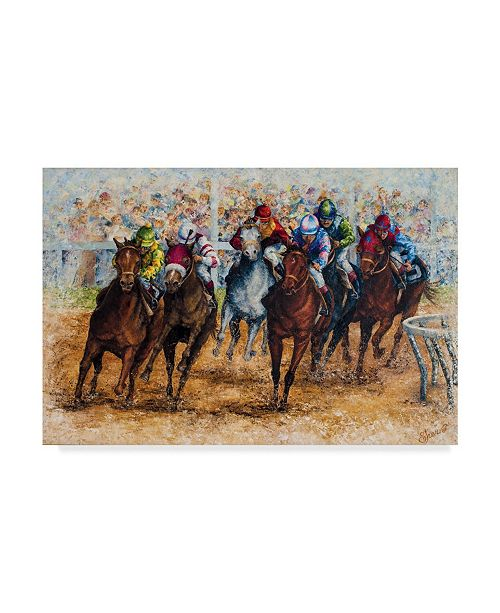 """Trademark Global Sher Sester 'The Derby' Canvas Art - 32"""" x 22"""" x 2"""""""