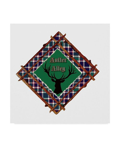 "Trademark Global Sher Sester 'Antler Alley Framed Deer' Canvas Art - 35"" x 35"" x 2"""