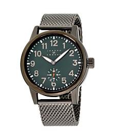 Men's Analog Gray Stainless Steel Bracelet Watch 28mm
