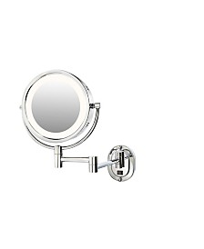 "The Jerdon HL65CD 8"" Lighted Wall Mount Direct Wire Makeup Mirror"