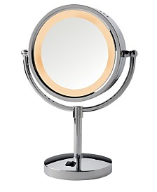 "The Jerdon HL745CO 8.5"" Tabletop Two-Sided Halo Lighted Vanity Mirror"
