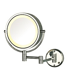 "The Jerdon HL75CD 8.5"" Wall Mount Lighted Makeup Mirror"