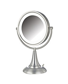 "The HL8510NL 8.5"" LED Lighted Table Top Mirror"