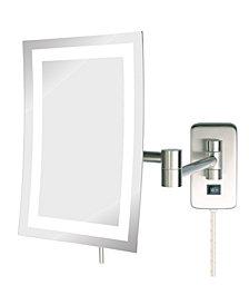 "The Jerdon JRT710NL 6.5"" x 9"" LED Lighted Wall Mount Rectangular Makeup Mirror"