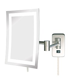"The Jerdon JRT710NL 6.5"" x 9"" LED Lighted Wall Mount Rectangular Makeup Mirror"