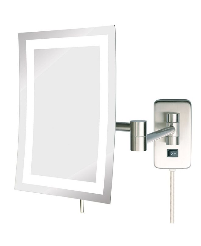 "Jerdon The JRT710NL 6.5"" x 9"" LED Lighted Wall Mount Rectangular Makeup Mirror"