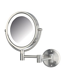"The HL88NLD 8.5"" LED Lighted Wall Mount Direct Wire Makeup Mirror"