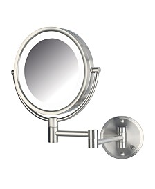 "The Jerdon HL88NLD 8.5"" LED Lighted Wall Mount Direct Wire Makeup Mirror"
