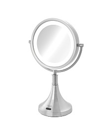 "The Sharper Image JRT8500NL 8.5"" LED Lighted Table Top Mirror with Sensor"