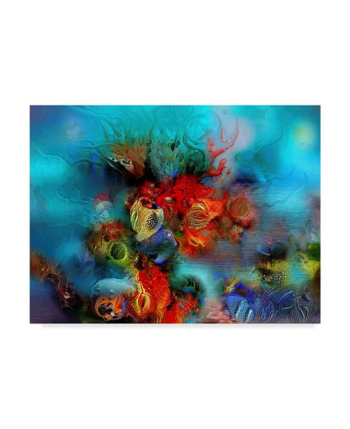 "Trademark Global RUNA 'Coral Reef Red' Canvas Art - 19"" x 14"" x 2"""