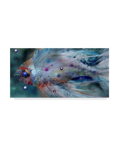 "Trademark Global RUNA 'Silver  Fish' Canvas Art - 10"" x 19"" x 2"""