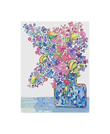 "Lisa Katharina 'Oversized Lilacs' Canvas Art - 19"" x 14"" x 2"""