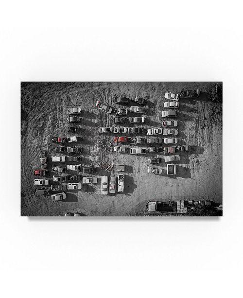 "Trademark Global Moises Levy 'Old Cars' Canvas Art - 32"" x 22"" x 2"""