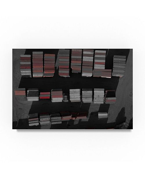 """Trademark Global Moises Levy 'Red Crates' Canvas Art - 47"""" x 30"""" x 2"""""""