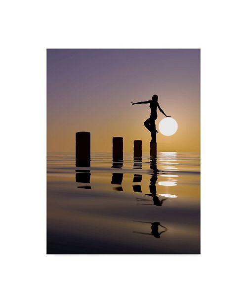 "Trademark Global Mustafa Celikel 'Touch My Sun' Canvas Art - 14"" x 2"" x 19"""
