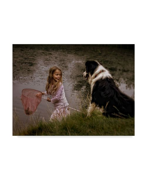 "Trademark Global Yvette Depaepe 'The Girl The Dog And The Frog' Canvas Art - 24"" x 2"" x 18"""