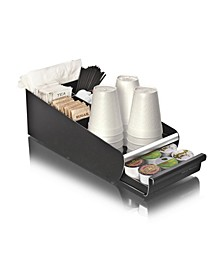 Coffee Condiment Storage Organizer with K-Cup Single Serve Coffee Pod Drawer