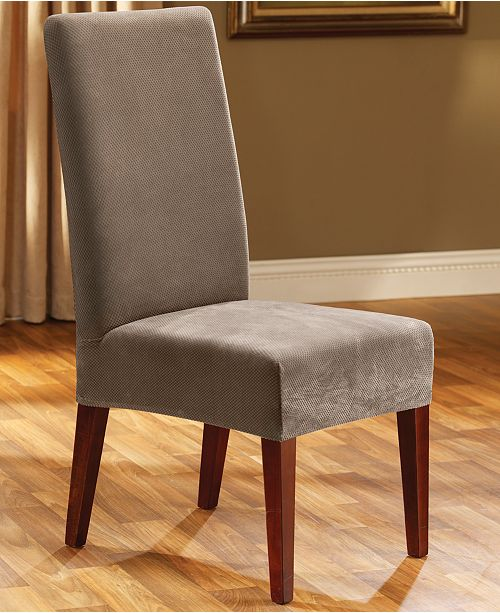 Stretch Pique Short Dining Room Chair Slipcover