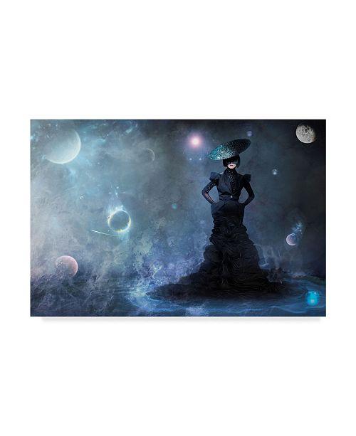 """Trademark Global Natalia Simongulashvili 'Magic Blue' Canvas Art - 19"""" x 2"""" x 12"""""""