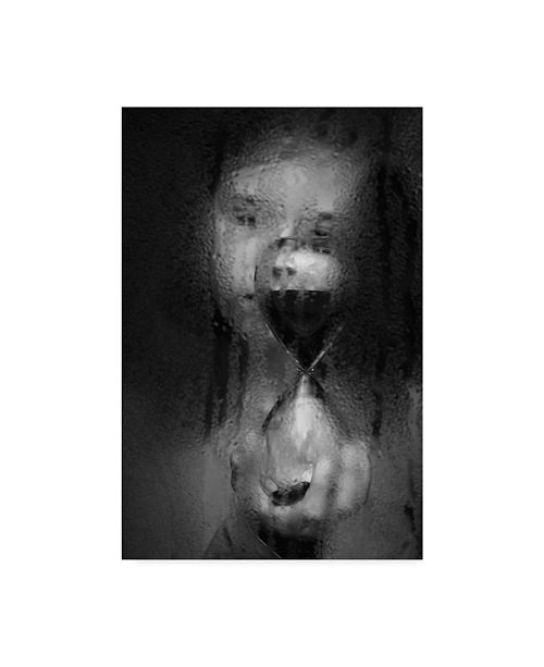 "Trademark Global Mirjam Delrue 'Time Hour Glass' Canvas Art - 12"" x 2"" x 19"""