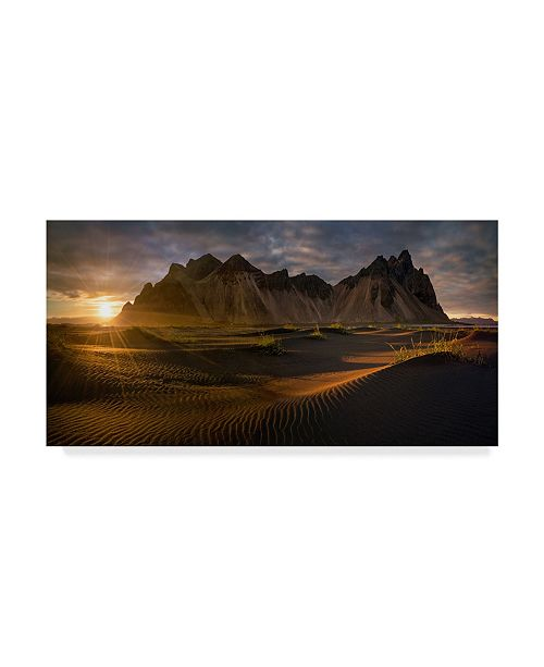 "Trademark Global Wojciech Kruczynski 'Stokksnes Sunset' Canvas Art - 19"" x 10"" x 2"""