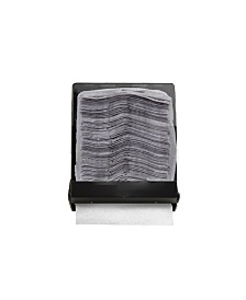 Mind Reader Dark Translucent C-Fold Multi-Fold Surface-Mounted Paper Towel Dispenser