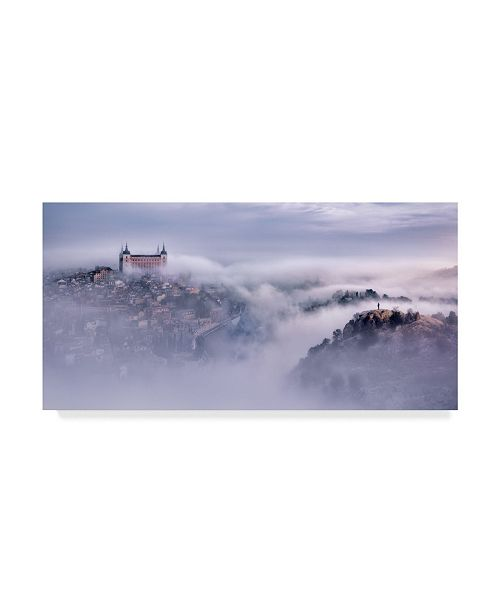 "Trademark Global Jesus M Garcia 'Toledo City Foggy Morning' Canvas Art - 19"" x 10"" x 2"""