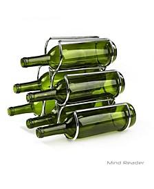 Steel Framed Pyramid Shaped Wine Bottle Holder Organizer