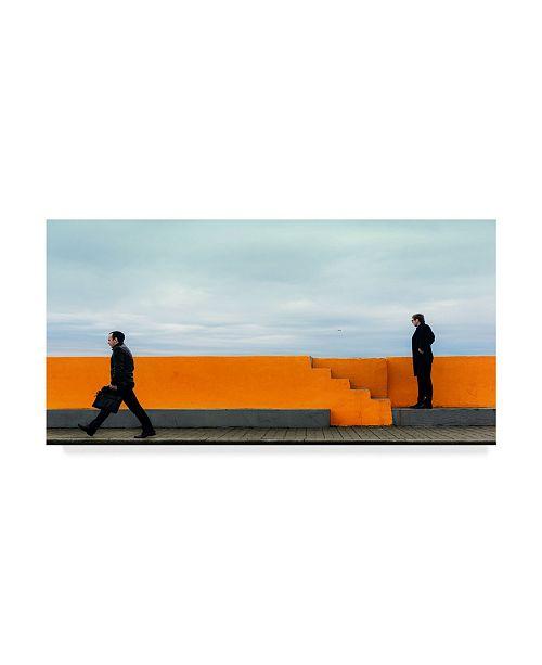 "Trademark Global Mikhail Potapov 'Orange Wall Portrait' Canvas Art - 19"" x 10"" x 2"""