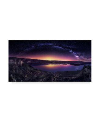 Jesus M Garcia 'Milky Way Over Las Barrancas' Canvas Art - 24
