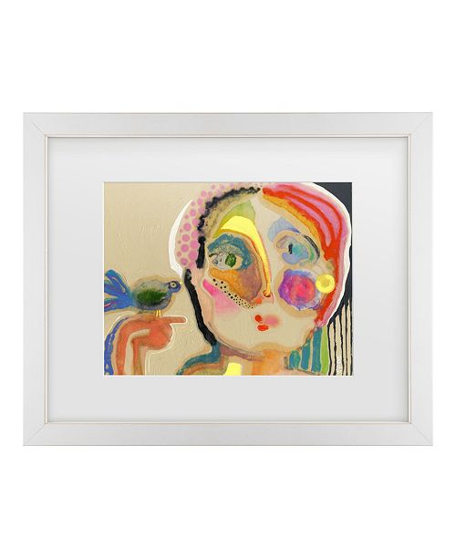 "Trademark Global Wyanne 'The Talker' Matted Framed Art - 14"" x 0.5"" x 11"""