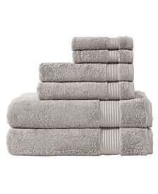 Classic Turkish Towels Amadeus 6 Piece Luxury Turkish Cotton Towel Set Collection