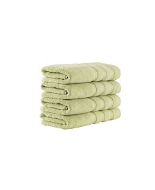 Classic Turkish Towels Antalya 4 Piece Luxury Turkish Cotton Hand Towel Set