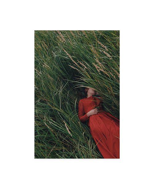 "Trademark Innovations Olga Barantseva 'Laying In Field' Canvas Art - 22"" x 2"" x 32"""