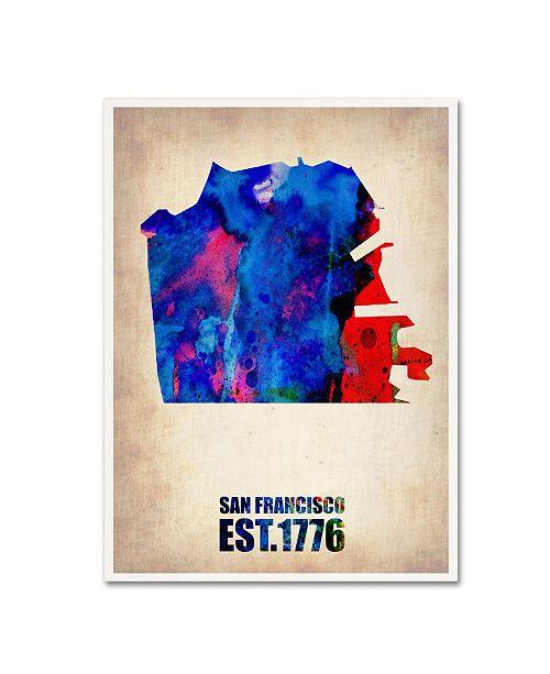 "Trademark Global Naxart 'San Francisco Watercolor Map' Canvas Art - 24"" x 32"" x 2"""