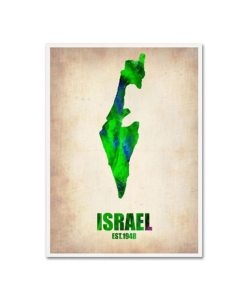 "Trademark Global Naxart 'Israel Watercolor Map' Canvas Art - 24"" x 32"" x 2"""