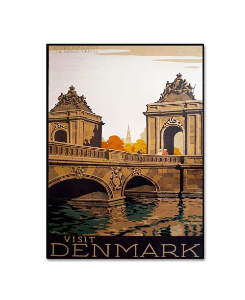 "Trademark Global Vintage Apple Collection 'Denmark' Canvas Art - 22"" x 32"" x 2"""