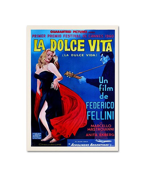"Trademark Global Vintage Apple Collection 'La Dolce Vita' Canvas Art - 16"" x 24"" x 2"""