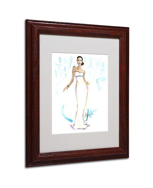"Trademark Global Jennifer Lilya 'Night in White Satin' Matted Framed Art - 11"" x 14"" x 0.5"""