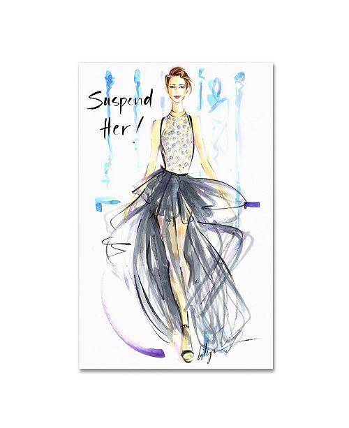 "Trademark Global Jennifer Lilya 'Suspend Her' Canvas Art - 22"" x 32"" x 2"""