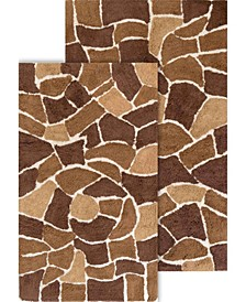 2-Piece Boulder Bath Rug Set