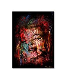 """Mark Ashkenazi 'Marilyn Monroe VII' Canvas Art - 19"""" x 14"""" x 2"""""""