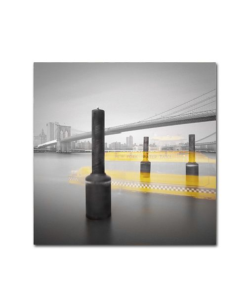 "Trademark Global Moises Levy 'New York Water Taxi' Canvas Art - 35"" x 35"" x 2"""