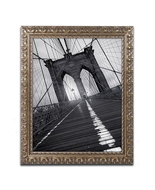 "Trademark Global Moises Levy 'Brooklyn Bridge Study I' Ornate Framed Art - 20"" x 16"" x 0.5"""