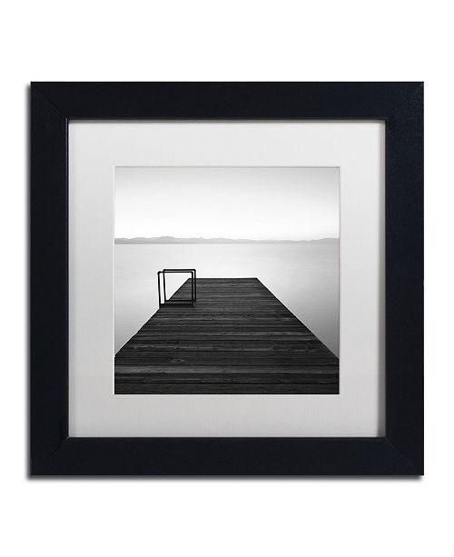 "Trademark Global Moises Levy 'Cube' Matted Framed Art - 11"" x 11"" x 0.5"""