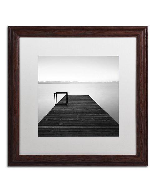 "Trademark Global Moises Levy 'Cube' Matted Framed Art - 16"" x 16"" x 0.5"""